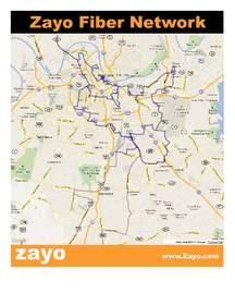 Zayo Fiber Map on